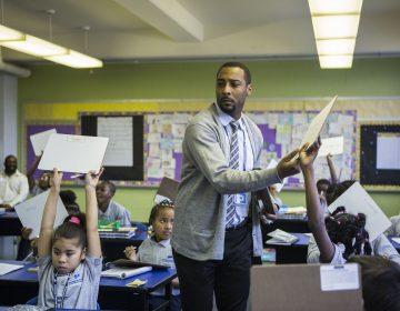 Jovan Weaver, principal of Mastery Charter School at John Wister Elementary. (Jessica Kourkounis/Keystone Crossroads)