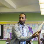 Jovan Weaver, principal of Wister Elementary School. (Jessica Kourkounis/WHYY)
