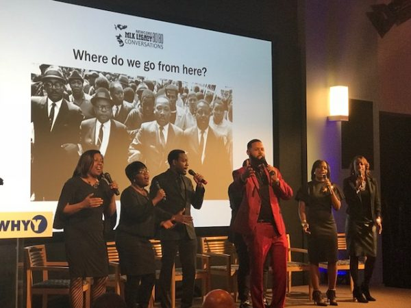 Special guest performance from Jubilation, Monumental Baptist Church, at WHYY (Sandra Clark/WHYY)