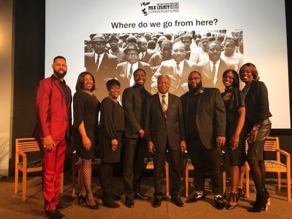 Members of Monumental Baptist Church choir, Jubilation, with (center) Rev. J. Wendell Mapson. (Sandra Clark/WHYY)