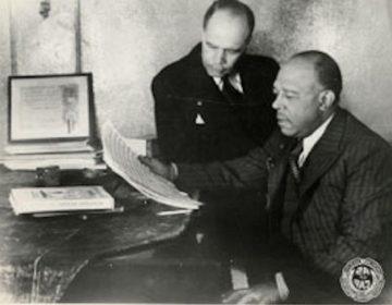 James Weldon Johnson (back) and his brother John Rosamond Johnson.