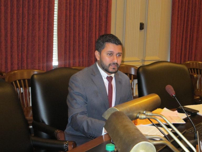 New Jersey Assemblyman Raj Mukherji says arts organizations need a sustainable source of revenue, which his bill would help create. (Phil Murphy/WHYY)
