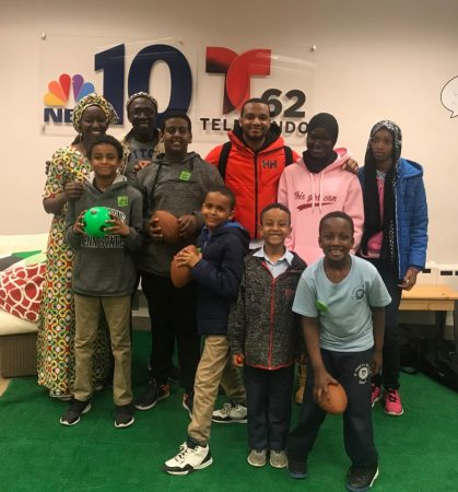 The African Learning Center Program students recently toured the NBC10 station. (Photo courtesy of Aminata Sy)