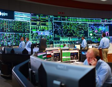 A view of the PJM control room. The grid operator, based outside Philadelphia is the nation's largest. (Courtesy of PJM)