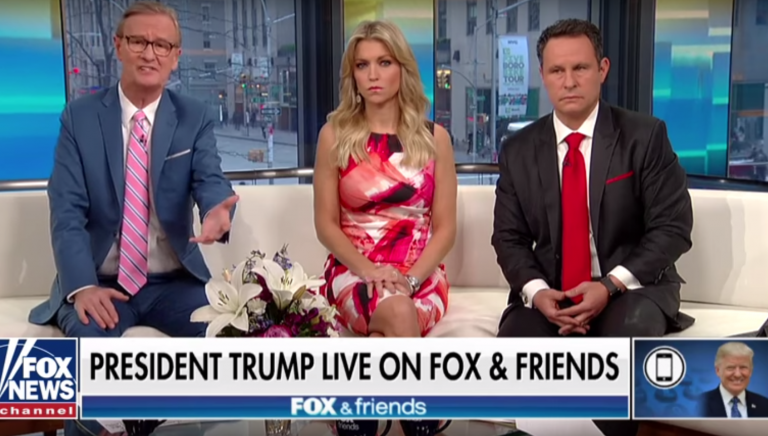 President Trump called in to 'Fox & Friends' on Thursday, April 26, 2018.