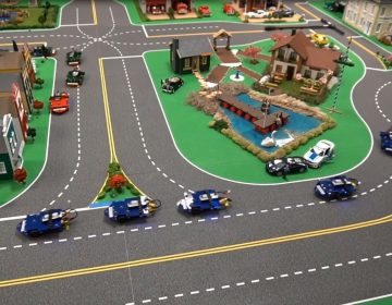 University of Delaware researchers are using this miniature city to test autonomous vehicles. (University of Delaware photo)
