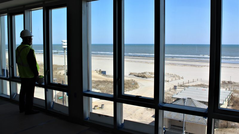 The view from a dorm room on Stockton's future Atlantic City campus. (Bill Barlow/for WHYY)
