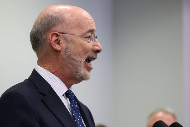 Governor Tom Wolf introduces a legislation package to combat both sexual harassment and assault as well as workplace discrimination. (Angela Gervasi/WHYY)