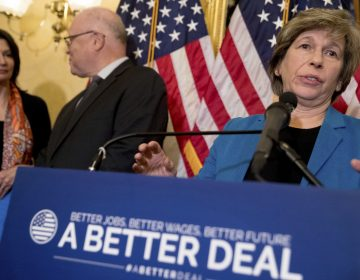 American Federation of Teachers President Randi Weingarten, speaks at a news conference on American labor on Capitol Hill in Washington, Nov. 2017. (Andrew Harnik/AP)