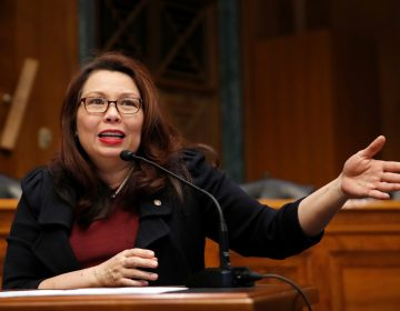 Sen. Tammy Duckworth, seen here in February on Capitol Hill, announced the birth of a daughter, making her the first U.S. senator to give birth while in office. (Alex Brandon/AP)
