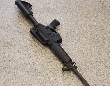 This photo provided by the Metro Nashville Police Department photo shows the rifle used in the deadly shooting at a Waffle House on Sunday in the Antioch neighborhood of Nashville. (AP)