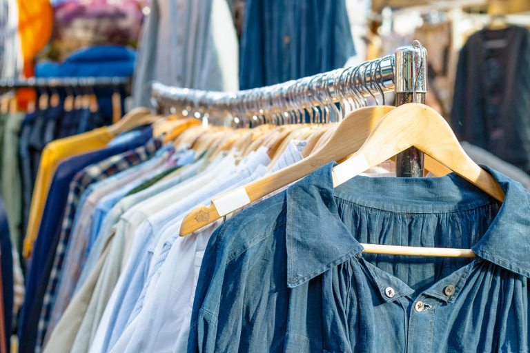 Rail Of Second-hand Clothes