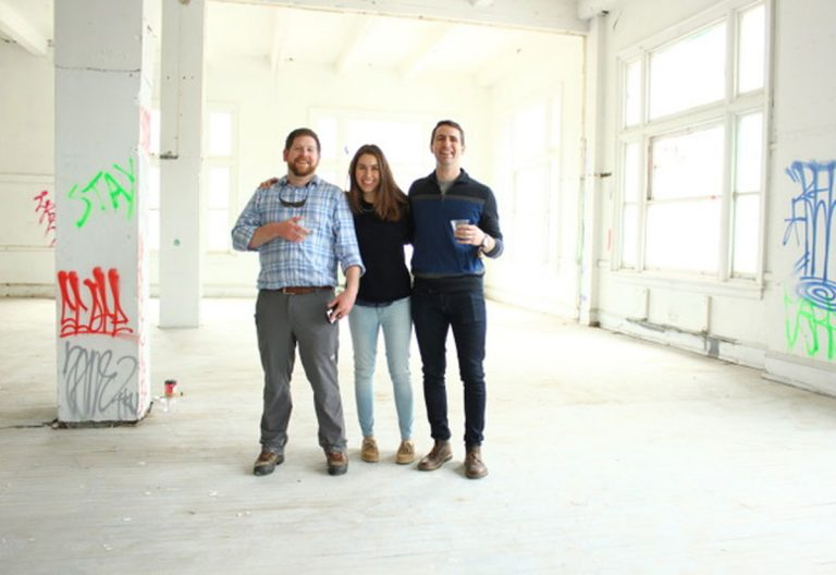Kyle Carney, head brewer, Tess Hart, and Bill Popwell co-founded Triple Bottom Brewery, which will be located in the city's Spring Garden neighborhood. (Provided)