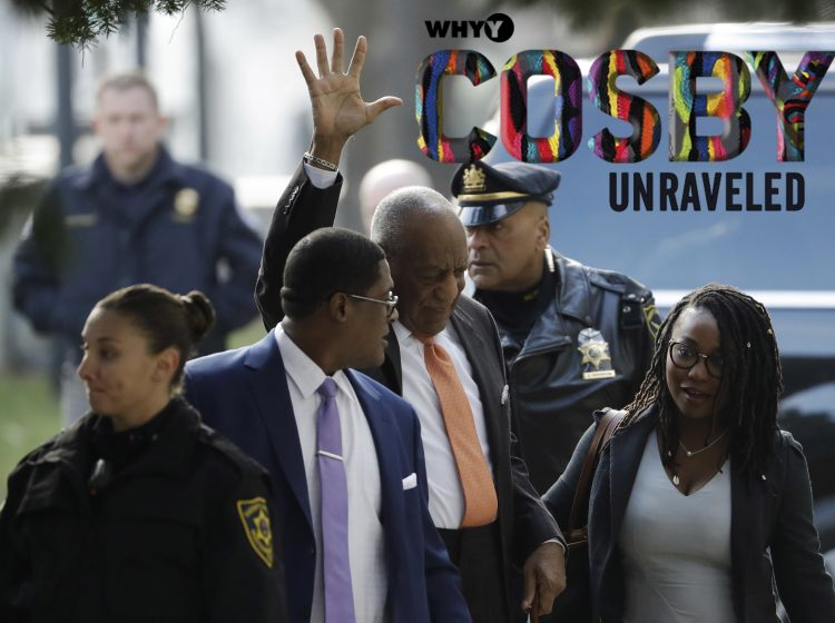 Bill Cosby waves as he arrives for his sexual assault trial, Tuesday, April 10, 2018, at the Montgomery County Courthouse in Norristown, Pa. (