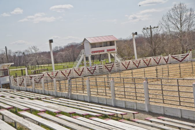 The Cowtown Rodeo arena in Pilesgrove Township, N.J. (Kimberly Paynter/WHYY)