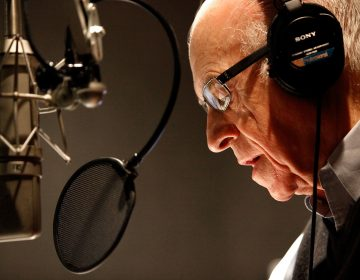NPR's Carl Kasell delivers one of his last newscasts during Morning Editionon Dec. 30, 2009 in Washington, D.C