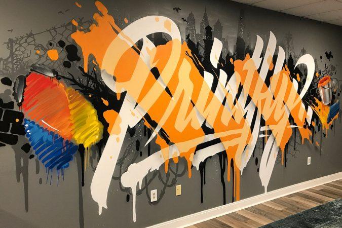 Printfly Rush Order Tees lobby, Philadelphia (Image courtesy of Glossblack)