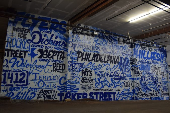 Philly word collage at Graffiti Garage, South Philly (Image courtesy of Glossblack)