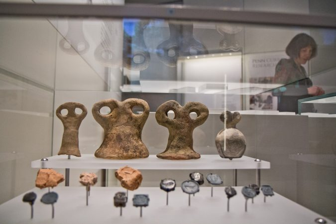 "Archaeologists call the amulets ""eye idols"" and they're found all over Syria and Iraq. (Kimberly Paynter/WHYY)"