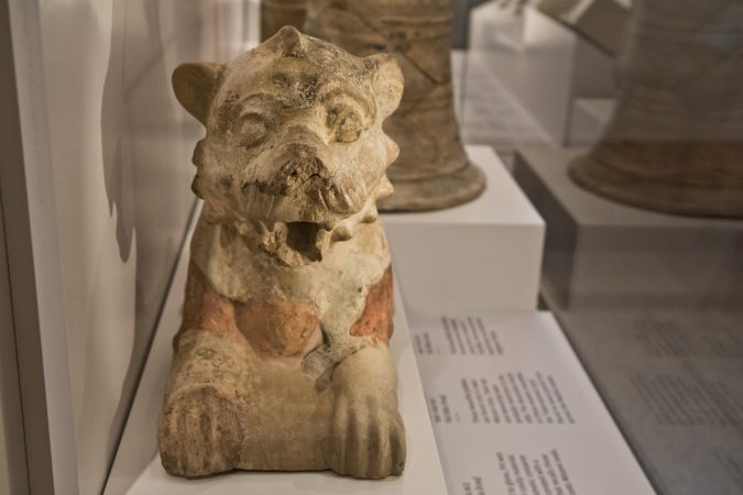 Lion sculptures were often placed in front of doorways. (Kimberly Paynter/WHYY)