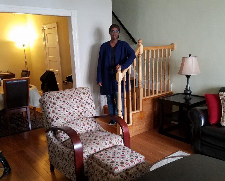 Myia Hurst in her Roxborough home. (Photo courtesy of Philadelphia Housing Authority)