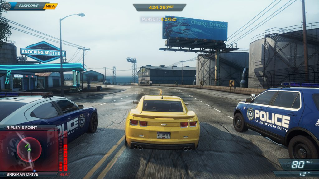 It's hard to play a racing game like Need For Speed without seeing the screen. For example, what do you when you have two police cars chasing you and you have to figure out where they are, and how to avoid them? But some blind gamers have figured out ways around it. Courtesy of Electronic Arts Inc