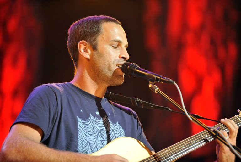 Jack Johnson performs with his band during the Farm Aid 2013 concert at Saratoga Performing Arts Center in Saratoga Springs, N.Y., Saturday, Sept. 21, 2013. (Photo: Hans Pennink/AP)