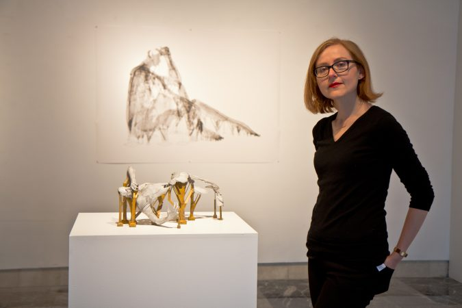 Sophie Kahn is a featured artist of Phantom Limb at the Esther Klein Gallery. (Kimberly Paynter/WHYY)