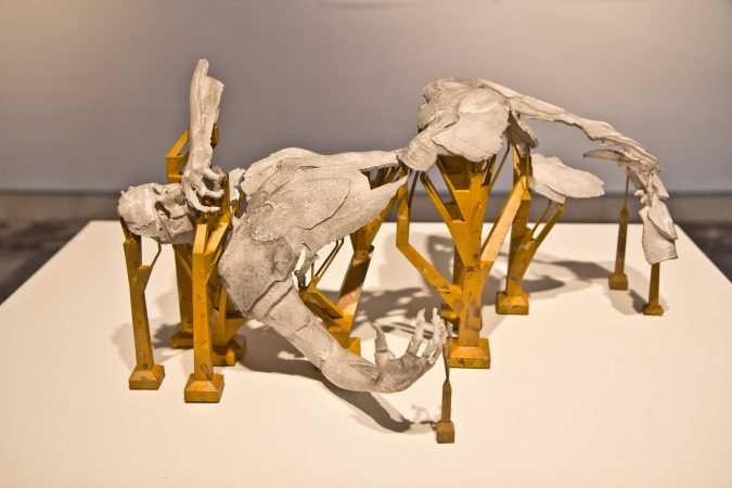 Sculpture work by artist Sophie Kahn in Phantom Limb at the Esther Klein Gallery. (Kimberly Paynter/WHYY)