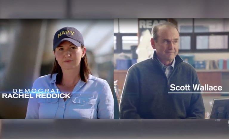 Democratic candidates Rachel Reddick and Scott Wallace