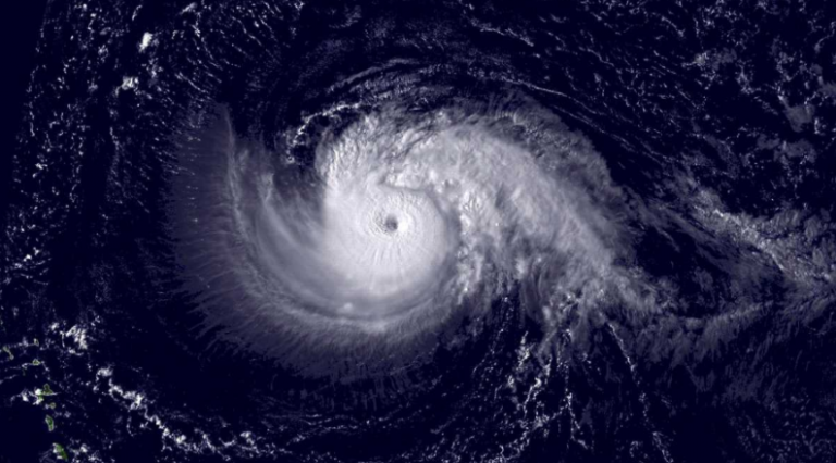 A NOAA satellite image of Hurricane Isabel taken on Sept. 10, 2003.
