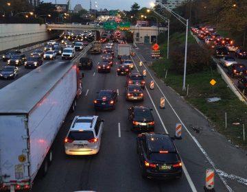 Traffic clogs I-676