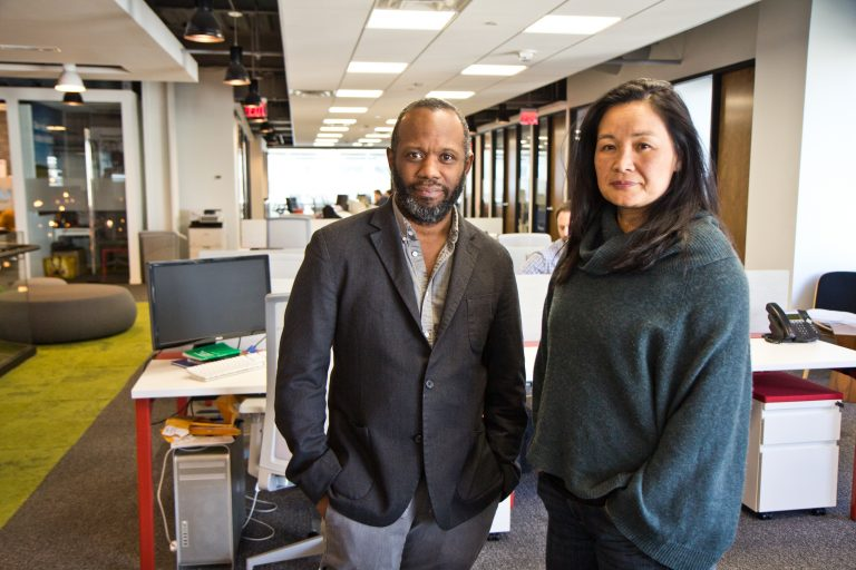Thyyib Smith and Meegan Denenberg are cofounders of Pipeline Philly, a co-working space in Center City.