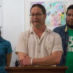 "Paul Frame is an American citizen and husband of Ivan Martinez. The ACLU of Pennsylvania, Juntos, members from the immigrant and LGBTQ communities and allies gathered at the William Way LGBT Community Center in Center City, Philadelphia on May 22, to announce the federal filing of a legal complaint to end the unlawful detention of Jose ""Ivan"" Noe Nuñez Martinez, who has been in detention since Jan. 31, 2018 after ICE showed up to a routine marriage interview at USCIS. (Emily Cohen for WHYY)"