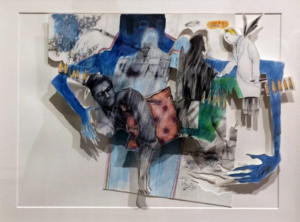 Mehdi Ashlaghi on display at Twelve Gates Arts.
