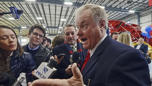Scott Wagner hosted a town hall on Thursday night in Cumberland County. (Marc Levy/AP Photo, file)