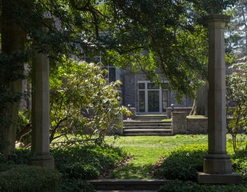 Stoneleigh Gardens is the newest preserve from Natural Lands. Formally the estate of the Haas Family, the gardens and grounds will open to the public ion Mother's Day. Many of the structures are over 100 years old. (Emily Cohen for WHYY)