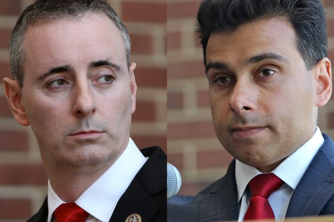 Brian Fitzpatrick, the Republican incumbent in Bucks County's 1st Congressional District, is facing a challenge from pro-Trump candidate Dean Malik. (Emma Lee/WHYY)