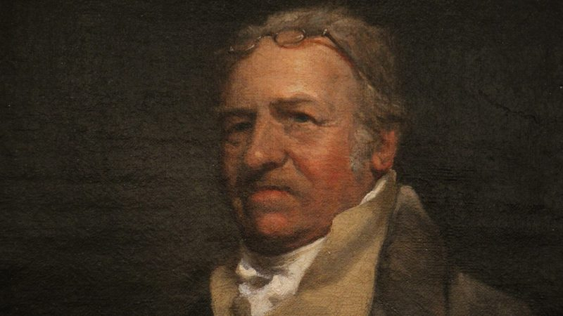 William Birch, depicted in an oil painting by John Neagle from 1824, captured Philadelphia in the late 18th and early 19th centuries with his watercolors, prints, and books. (Courtesy of The Library Company of Philadelphia)