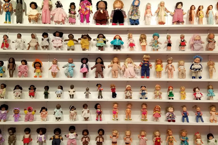 """Moundverse Infants,"" an installation at Temple's Tyler School of Art, combines the collections of artist Trenton Doyle Hancock and Philadelphia Doll Museum founder Barbara Whiteman."