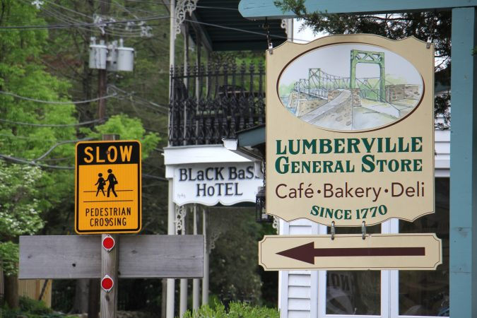 Much has changed in the river town of Lumberville since Bruce Katsiff captured it in photographs 40 years ago, but much has remained the same. (Emma Lee/WHYY)