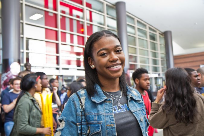 Philadelphia senior Chloe Booker will head to West Chester University. (Kimberly Paynter/WHYY)