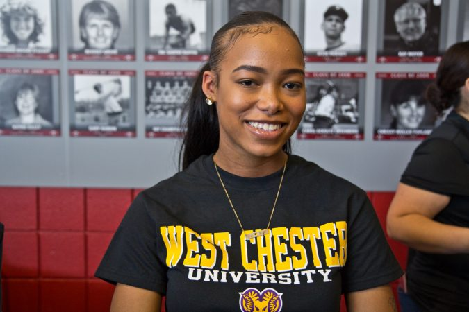 Philadelphia senior Janelle Wells-Bradley will head to West Chester University. (Kimberly Paynter/WHYY)