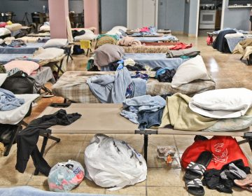The shelter at Kensington Avenue and Willard Street opens at 6 p.m. daily. (Kimberly Paynter/WHYY)