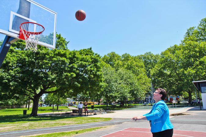 Kathryn Ott Lovell is commissioner of Philadelphia's Parks & Recreation Department. (Kimberly Paynter/WHYY)