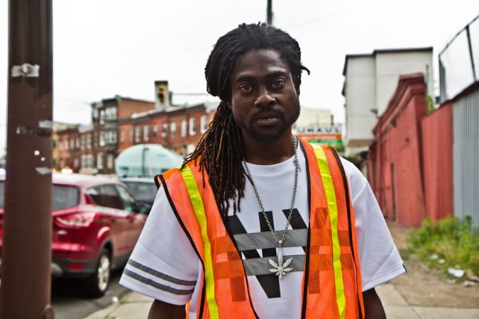 Lewis had a bed in a shelter in Kensington but said he lost it because of his mental health issues. He recently returned to the encampment and said he doesn't know where he will sleep now. (Kimberly Paynter/WHYY)
