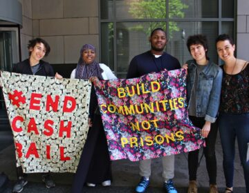 Bail funds in the Philadelphia area and beyond are seeing more people dip into their wallets as the protests continue against police brutality and racism. (Emma Lee/WHYY)