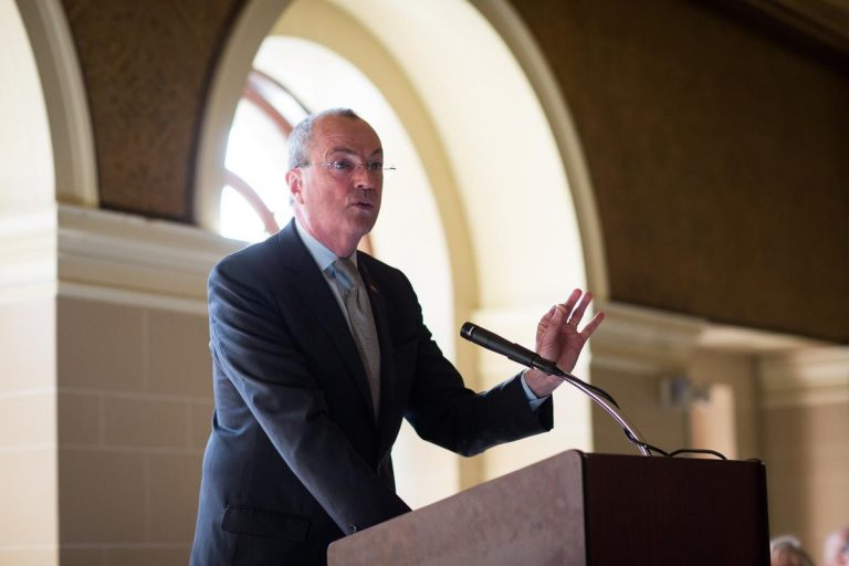 Governor Phil Murphy swears in Mayor Chuck Chiarello and delivers remarks at the New Jersey Conference of Mayors where he encouraged Mayors to preserve property tax deduction at the Masonic Temple in Trenton in New Jersey on Thursday, February 8th, 2018. Edwin J. Torres/Governor's Office.