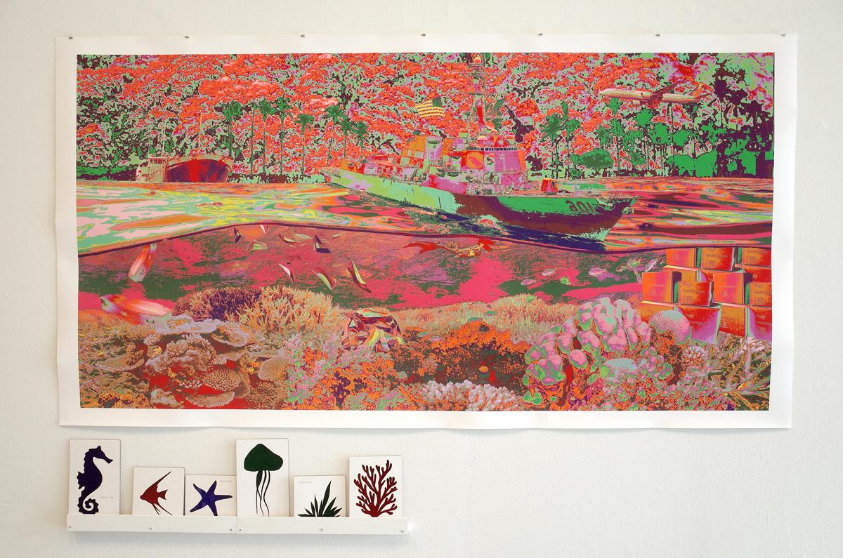 """Maria Dumlao's print """"Pacific, 1993"""""""