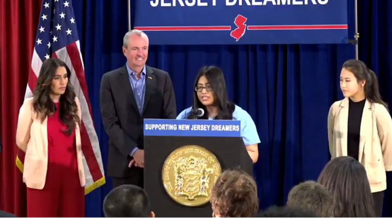 Students attend the ceremony where Gov. Phil Murphy signed the financial aid law.